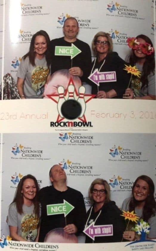 The Harper & Co team at Nationwide Children's Hospital's Rock 'N' Bowl 2018