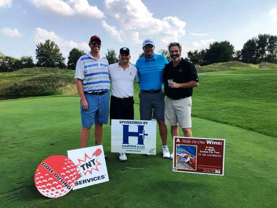 Glenn is hitting the links with TNT Services benefiting the Flying Horse Farms charity
