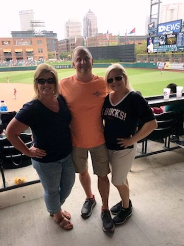 Glenn, Holly and Katie at The Columbus Clippers Game 2018