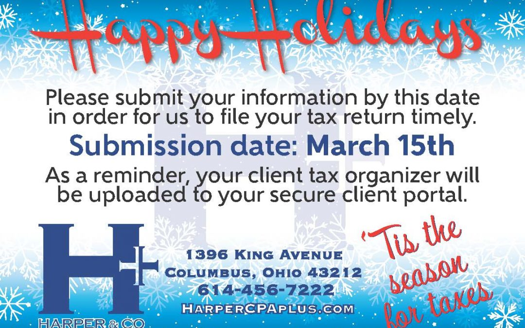 Tis the season for Taxes!